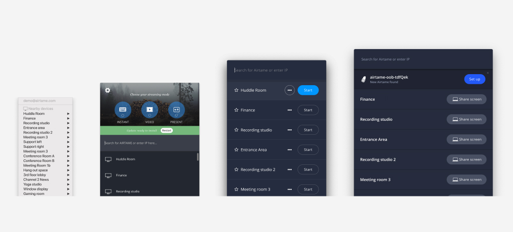 The evolution of the Airtame desktop app