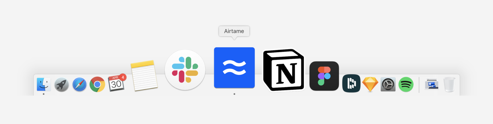Airtame icon on the macOS dock
